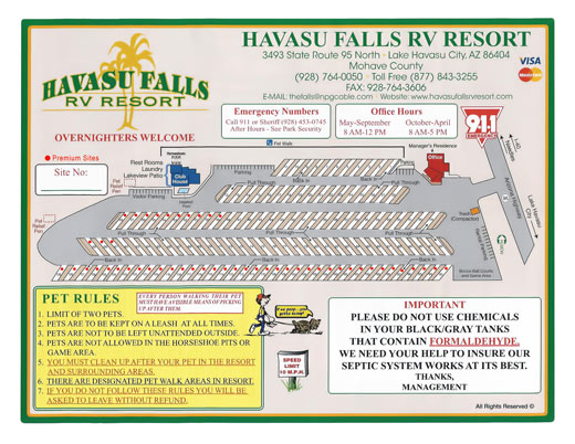 Great Lake Havasu Rv Park Sites Havasu Falls Rv Resort